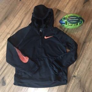 Boys Nike Dri-Fit Hoodie in Black, Medium